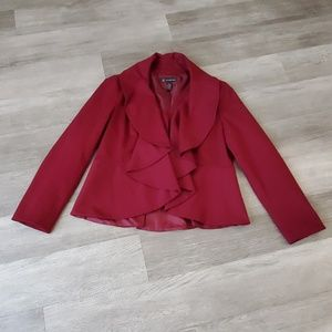 Inc Internation ConceptsXL burgundy zip up blazer